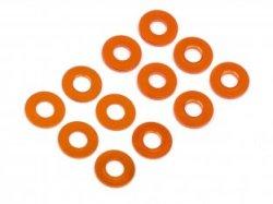 画像1: ワッシャーセット3×7mm(0.5mm/1.0mm/オレンジ/6pcs)