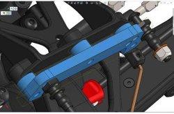画像2: HB RACING D418 Front Shock Tower Set V2
